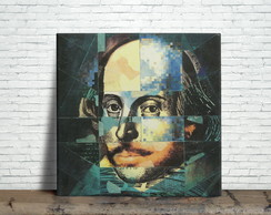Quadro Decorativo Shakespeare Pop Art (Azulejo)