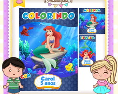Kit colorir giz massinha Pequena Sereia