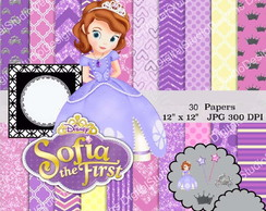 Papel Princesa Sofia Digital Scrapbook + Brinde