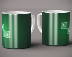 Caneca Breaking Bad simbolos