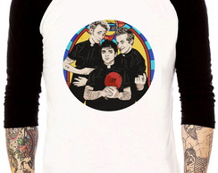 Camisa Raglan Green Day Gods Favorite Band Album Rock