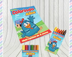 Kit Colorir com massinha Galinha Pintadinha