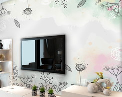 Mural Adesivo Floral 1,74 X 3,00m