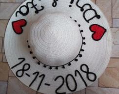 87fed00b1e3ce Chapéu personalizado c  nome p  casamento