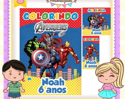 kit colorir giz massinha Vingadores