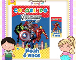 kit colorir giz Vingadores