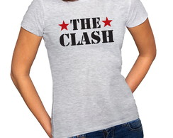 Camiseta Feminina Baby Look Rock The Clash Army