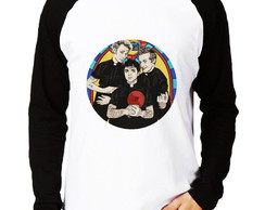 Camisa Raglan Green Day Gods Favorite Band Album Manga Longa