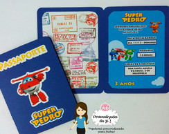 Convite Passaporte Super Wings
