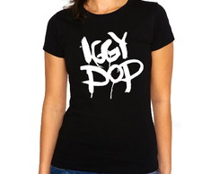 Camiseta Feminina Baby Look Rock Iggy Pop