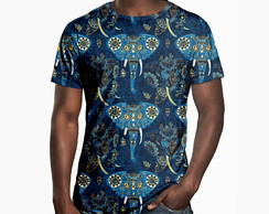 Camiseta Masculina Elefante Indiano Estampa Digital