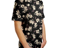 Camiseta Masculina Flor De Cerejeira Estampa Digital