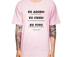... Camiseta Masculina Eu creio Eu Vivo Eu adoro Clássico 43ded63ecc01b