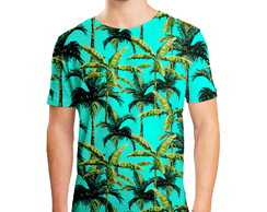 Camiseta Masculina Palmeira Tropical Estampa Digital