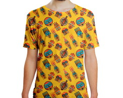Camiseta Masculina Tribos Africanas Estampa Digital