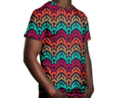Camiseta Masculina Vetor Tribal Estampa Digital