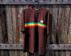T-shirt Reggae Roots MARROM tam. GG