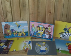 Kit com 7 placas de mdf: Simpsons