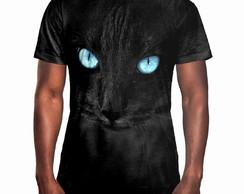 2584672798 Camiseta Masculina Big Face Gato Negro Estampa Digital no Elo7 ...