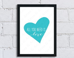 Quadro All you need is a Love - 142 - A4