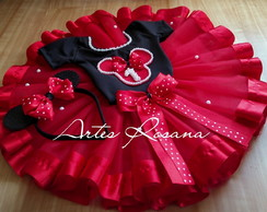 Fantasia tutu Minnie luxo