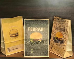 500 Sacos De Papel Kraft 22x33x11 Fast Food Lanches Delivery