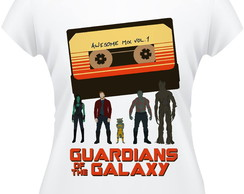 Baby Look Guardiões da Galaxia Awesome Mix Feminina