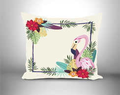 Almofada decorativa Flamingo tropical