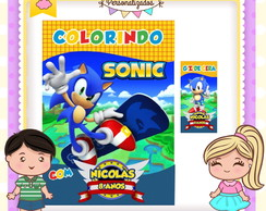 Kit colorir giz Sonic