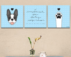Conjunto de Quadros Boston Terrier
