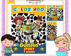 Kit colorir giz massinha Toy Story
