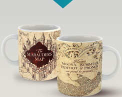 CANECA PORCELANA MÁGICA - MARAUDERS MAP - HARRY POTTER