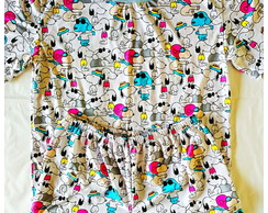Pijama Curto Snoopy - Adulto