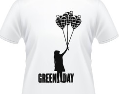 Camiseta Green Day Balões Masculina