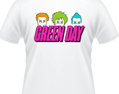 Camiseta Green Day Pop Color Masculina