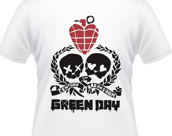 Camiseta Green Day Skulls Masculina