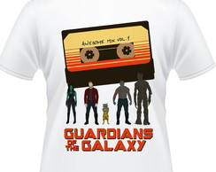 Camiseta Guardiões da Galaxia Awesome Mix Masculina
