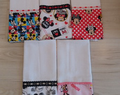 Kit com 2 Panos de prato Mickey e Minnie