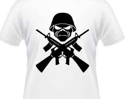Camiseta Iron Maiden The Troopers Masculina