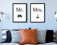 "Kit Quadros ""MR e MRS"" 30x40cm"