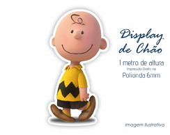 Display de Chão 1m de Altura do Charlie Brown