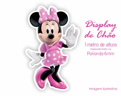 Display de Chão 1m de Altura da Minnie Rosa