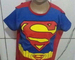 Fantasia Infantil Superman Curto