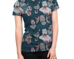 86ae2b49dc Camiseta Baby Look Feminina Big Face Gato Negro Total Print no Elo7 ...