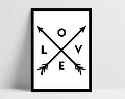 Poster Digital Love Setas