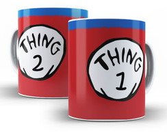 Caneca Thing 1 / Thing 2