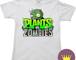 Camiseta Infantil Plants Vs Zombies 06