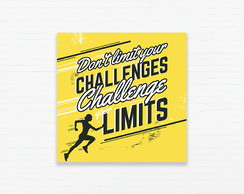 Quadrinho 15x15 Corredor - Challenge Your Limits