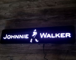 Luminoso Johnnie Walker 60x13cm - Acrílico Preto Brilhante!!