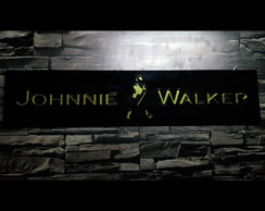 Placa Decorativa Johnnie Walker 60cm x 13cm Acrílico!!
